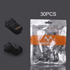 30PCS RJ45 CAT5 8P8C Crystal Network Modular Connector - Black