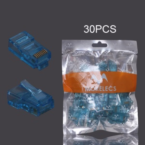 30PCS RJ45 CAT5 8P8C Crystal Network Modular Connector - Dark Green