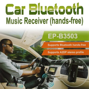 EDUP EP-B3502 3.5mm Car Home Bluetooth Stereo Music Receiver (Hands-Free)