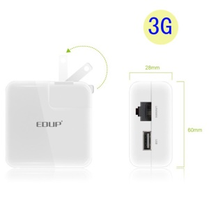 EDUP EP-2908S Mini Business Portable 150Mbps WiFi Router Wireless Partner (3G Version)