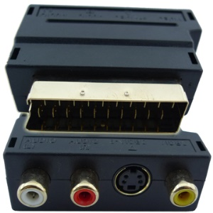 A/V to 20 PIN Male Scart Adapter + S Video