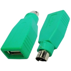 USB A Jack to mini DIN6 male Adapter ( USB to PS/2 ), USB to PS2