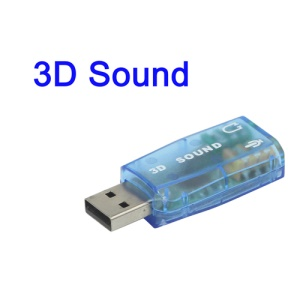 USB 2.0 to 3D Audio Sound Card Adapter Virtual 5.1 Channel