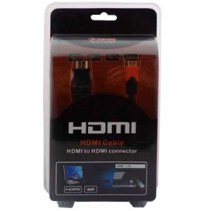 Gold Plated 1080P HDMI V1.3 Male to Mini HDMI Male Connection Cable (1.8M-Length)