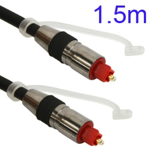 1.5M Nickel Plating Toslink Digital Optical Fiber Audio Cable