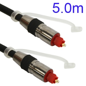 5M Nickel Plating Toslink Digital Optical Fiber Audio Cable SPDIF