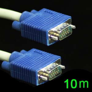 High Quality SVGA VGA 3+6 Monitor M/M Male to Male Extension Cable,Length:10M