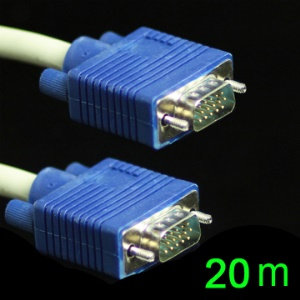 High Quality HD15 VGA 3+6 Monitor M/M Male to Male Extension Cable,Length:20M