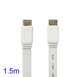 V1.4 1080P 1.5M HDMI M to M Video/Audio Cable PS3 XBOX360 Bluray Disc HDTV DVD - White