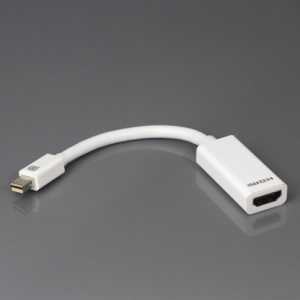 Mini DisplayPort DP to HDMI 1.4 Adapter Cable, Support 3D Function - White