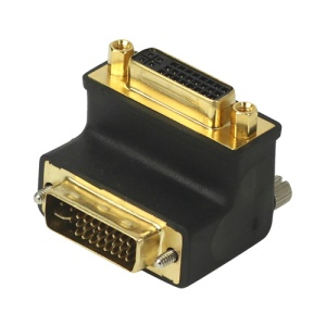 Gold Plated DVI 24+5 Male to Female 90 degree Right Angle Converter Adapter