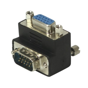 VGA Male to Female 90 degree Right Angle Converter Adapter