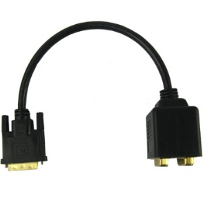 DVI 24+1 Pin Male to 2 x DVI 24+1 Pin Female Cable (extention)