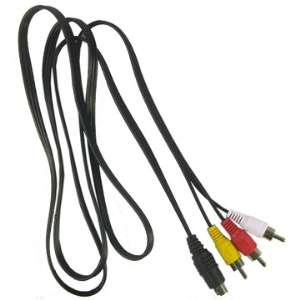 S-Video to 3 Male RCA plugs cable;1.5m