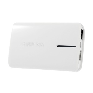 White Multifunctional 150Mbps 3G Cloud Wi-Fi Router / Repeater / Network Storage / Power Bank