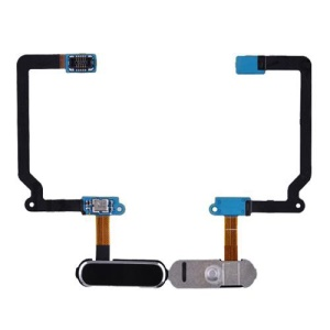 OEM for Europe Samsung Galaxy S5 SM-G900F Home Button with Flex Cable Ribbon - Black