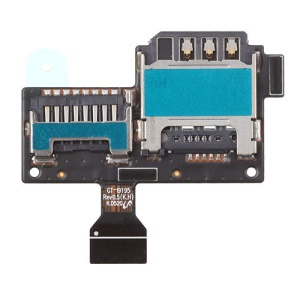 For Samsung Galaxy S4 Mini LTE i9195 SIM Card and SD Card Reader Holder Contact Flex Cable OEM