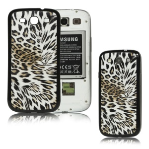 Leopard Back Cover Housing for Samsung i9300 Galaxy S iii - Black / Grey