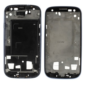 OEM Front Housing LCD Frame Bezel Plate for Samsung Galaxy S3 I9300 - Blue