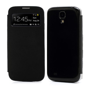 S-View Flip Cover Housing Battery Cover for Samsung Galaxy Galaxy S IV S4 i9500 - Black