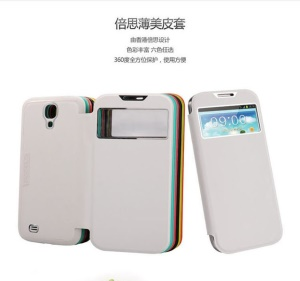 Baseus Window Design Smart Leather Battery Housing Case for Samsung Galaxy S4 i9500 i9505 i9502