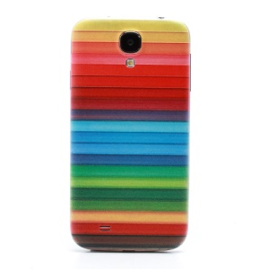Colorized Stripes Embossed Back Housing Cover for Samsung Galaxy S4 S IV i9500 i9505