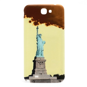 Embossing the Statue of Liberty Back Battery Housing Cover for Samsung Galaxy Note II / 2 N7100