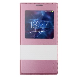 Baseus Unique Leather Smart Battery Door Cover for Samsung Galaxy S5 G900 - Rose