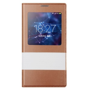 Baseus Unique Smart Leather Battery Cover Housing for Samsung Galaxy S5 G900 - Champagne