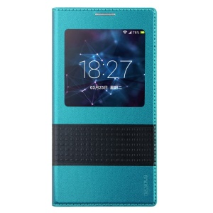 Baseus Unique Smart Leather Battery Cover for Samsung Galaxy S5 G900 - Blue