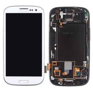 AT&T For Samsung Galaxy S III SGH-I747 LCD Assembly with Touch Screen + Middle Frame - White