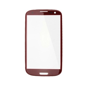 Front Screen Glass Lens for Samsung i9300 Galaxy S III S3 - Red