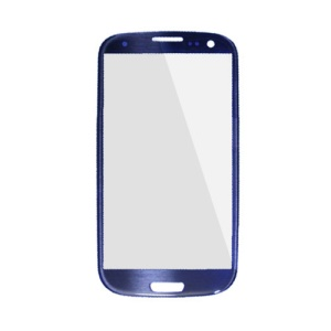 OEM Front Outer Glass Screen Lens for Samsung I9300 Galaxy S3 - Blue