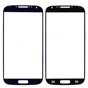 Original Front Screen Cover Glass Lens for Samsung Galaxy S 4 IV i9500 - Blue