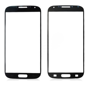 Original Front Screen Cover Glass Lens for Samsung Galaxy S 4 IV i9500 - Black
