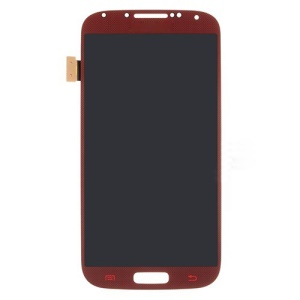 LCD Assembly with Touch Screen Digitizer for Samsung Galaxy S IV 4 i9500 i9505 OEM - Red