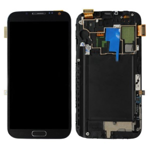 Grey Samsung Galaxy Note II 2 N7105 LTE LCD Assembly with Touch Screen + Middle Frame