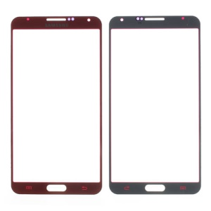 Red Grid Pattern Front Glass Lens Screen Cover for Samsung Galaxy Note 3 N9005