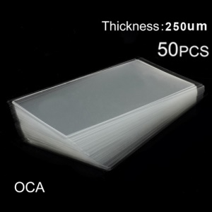 50pcs for Samsung Galaxy Note 2 N7100 LCD Digitizer OCA Optical Clear Adhesive Double-side Sticker, Thickness: 0.25mm