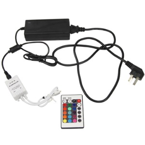 LED Controller + AC Charger Adapter for LED Multicolored Light Strip