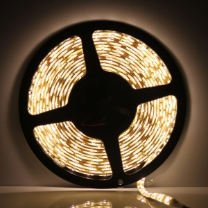 Flexible Waterproof 5M 3528 SMD LEDs Strip Light 60pcs/M - Warm White