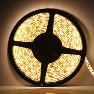 Flexible Waterproof 5M 5050 SMD LEDs Strip Light 60pcs/M - Warm White
