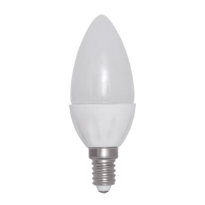 E14 1.5W 3000K 138-Lumen 30-LED Ceramic Candle Light Bulb AC 220V Milky Cover - Warm White