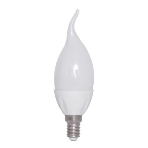 E14 1.5W 6500K 129-Lumen 30-Led Ceramic Candle Light Bulb AC 220V Milky Cover - White