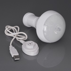 Creative Magnetic Base Rechargeable LED Light Bulb Emergency Light Flashlight 3 Watt