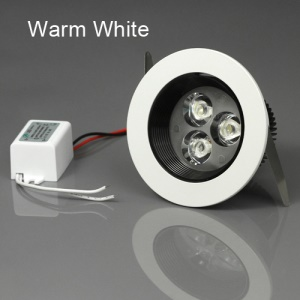 3W LED Downlight Ceiling Light Lamp AC85-265V Dia.88 x H55mm - Warm White