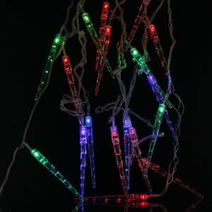 Multicolor Stick Shaped LED RGB Color Changing Fairy Lights String for Christmas Wedding Illuminations