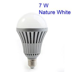 E27 7W LED Ball Bulb Lamp Energy Saving Lighting 600LM 4000K - Nature White