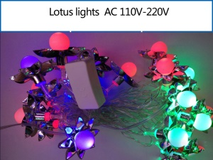 Multicolor Lotus Shaped LED RGB Fairy Light String for Christmas Wedding Illuminations