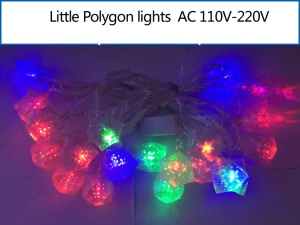 Multicolor Little Polygon Shaped LED RGB Fairy Light String for Christmas Wedding Illuminations